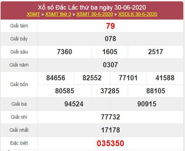 Dự đoán XSDLK 7/7/2020 chốt KQXS ĐăkLắc thứ ba