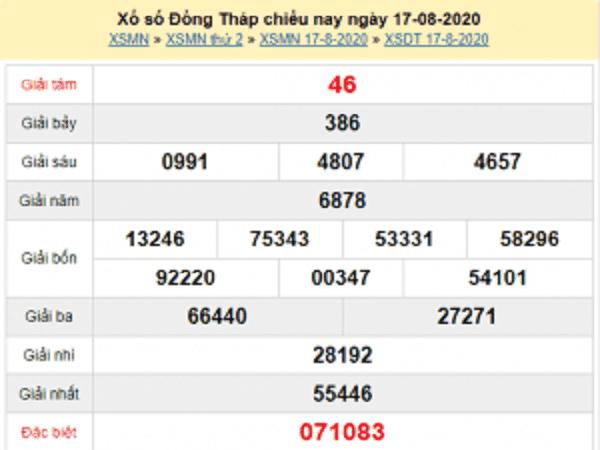 Nhận định KQXSDT- xổ số đồng tháp ngày 24/08/2020