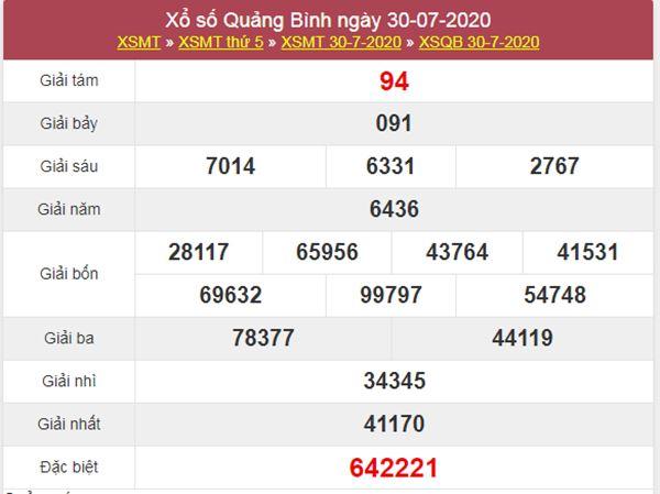 Thống kê XSQB 6/8/2020 chốt lô số đẹp Quảng Bình thứ 5