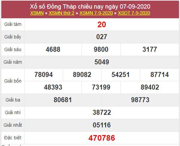 Soi cầu XSDT 14/9/2020 chốt số Đồng Tháp thứ 2 cực chuẩn