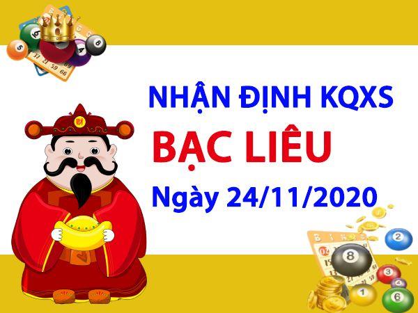 Nhận định KQXSBL ngày 24/11/2020