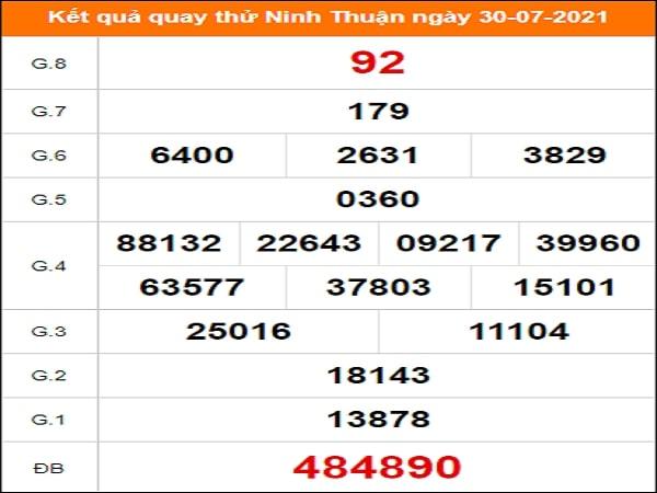 Quay thử xổ số Ninh Thuận ngày 30/7/2021